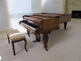 John Broadmoor Grand Piano 1877 Rosewood