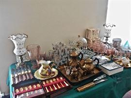 Boudoir Lamps, Glassware