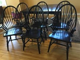 Six Pottery Barn Windsor Chairs