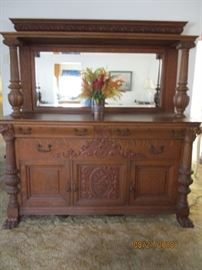 Side Board / Hutch made by Dauler, Close and John Pittsburg, Pa  100 years old
