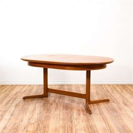 """NIELS KOEFOED"" FOR HORNSLET TEAK OVAL DINING TABLE"
