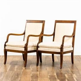 """PAIR OF """"ETHAN ALLEN"""" CARVED DOLPHIN ARM CHAIRS"""