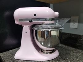 Baby pink Kitchen Aid Mixer