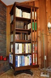 Fabulous Mission style, possibly Danner revolving bookcase