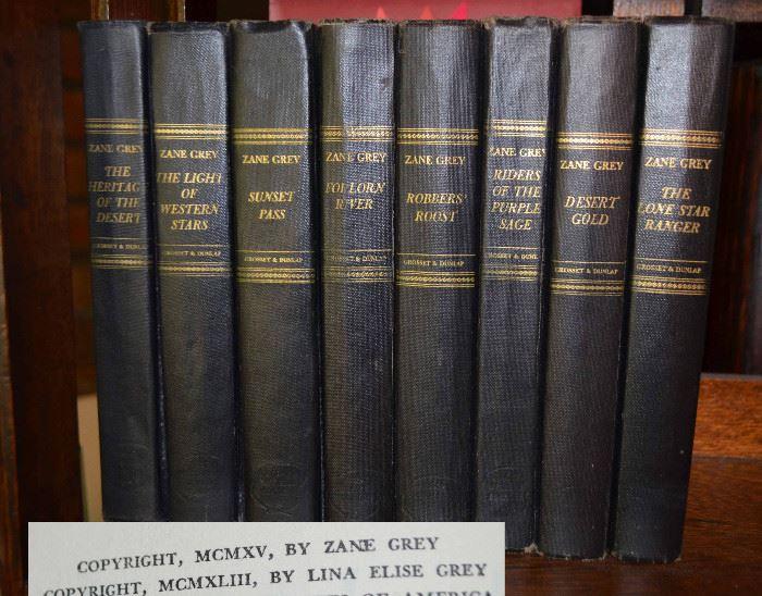 vintage Zane Grey books