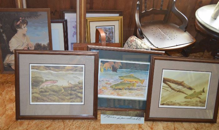 Limited Edition Trout  prints by Tom Landreth