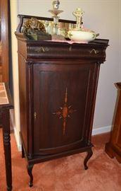 inlaid music cabinet