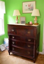 flame mahogany butler's chest