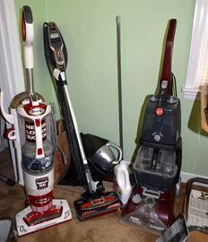 Shark vacuums; Hoover floor cleaner