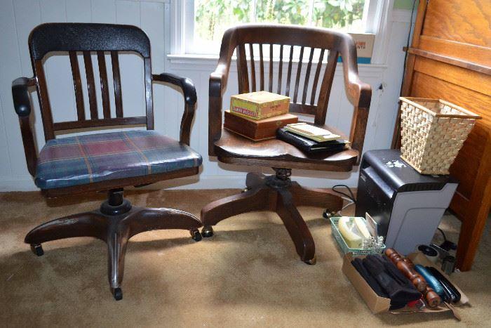 vintage office chairs; shredder