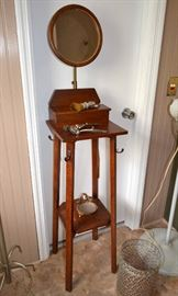 antique shaving stand