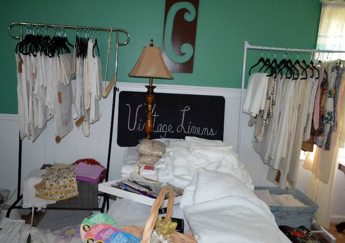 The Linen Lady has retired...great opportunity to buy quality vintage linens at great prices!