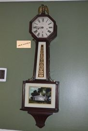 "8 day Westminster New Haven 42"" Banjo Clock; ca 1920"