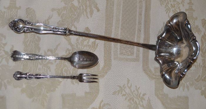sterling silver ladle; June 1912 Democratic National Convention spoon