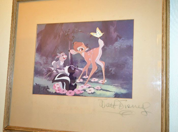 1942 Bambi signed by Walt Disney with provenance - presented to Paul Roling at the movie premiere at Albee Theater in Cincinnati Ohio