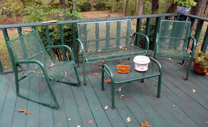 wrought iron porch furniture