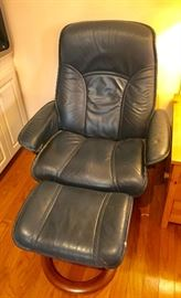 Ekornes stressless chair and ottoman