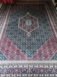 "Large 9' 6"" x 12' 6"" Persian Bidjar design rug, 100% wool face, hand woven."