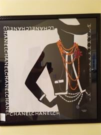 Nicely framed classic Chanel scarf - it ain't cheap!     Trailer Park Barbies don't wear real Chanel.