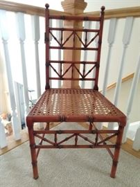 Nice vintage faux bamboo side chair, with cane seat.