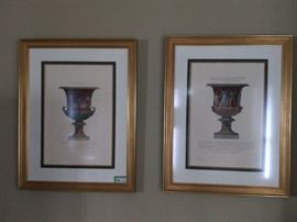 Pretty pair of nicely framed/matted urn prints - perfect to put you in the mood - who needs pills when you have a keen yearning for urns?!?