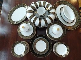 "78-Piece set of Empress ""Grand Prix"" china, Japan."