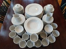 "112-piece set of Oneida ""Picnic"" china."