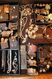 Vintage to newer sterling silver jewelry with and without natural stones, all 50% off!