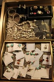 Sterling silver Native American rings and earrings and beautiful Thai silver jewelry with a nature theme, all 50% off!