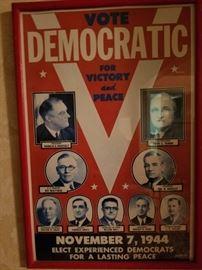 Political Poster - FDR - 1944