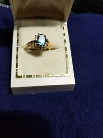 Topaz and diamonds