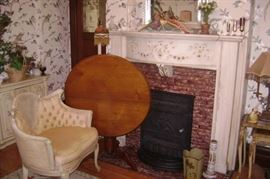 FIREPLACES ARE FOR SALE---VICTORIAN WALNUT TILT TOP TABLE
