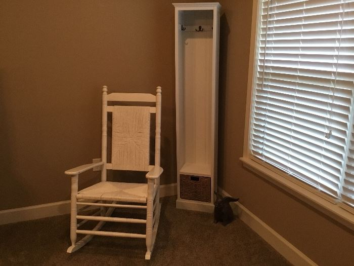 Rocker and small cabinet