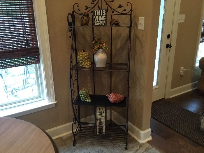 Wrought iron shelf unit and Home Decor