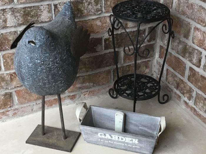 Garden items and outside decor