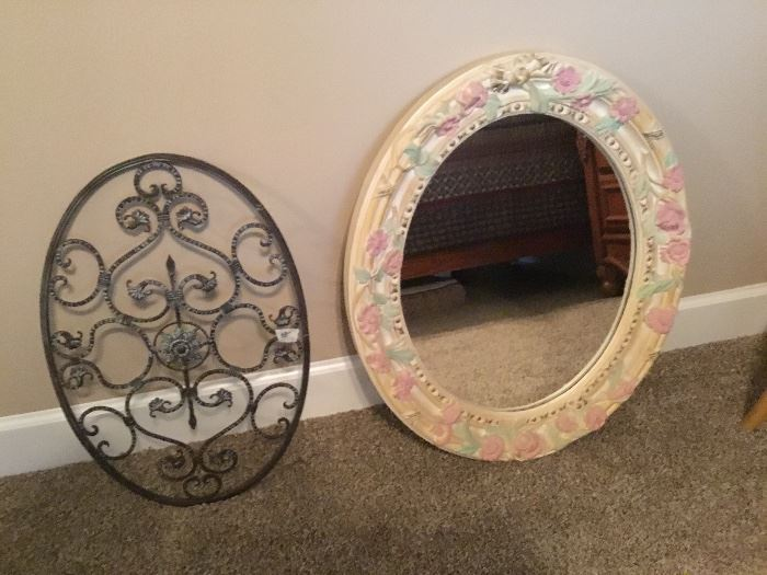 Metal wall decor and mirror