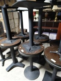 2 pedestal base cocktail tables 20 round
