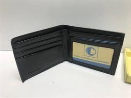Genuine leather bifold wallet