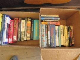 2 boxes of hardback books