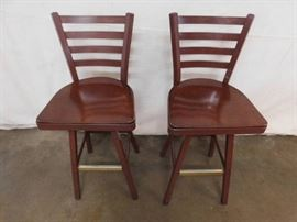 2 Metal Bar Chairs.