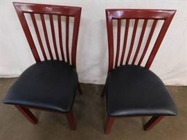 2 Metal Chairs with Cushians.
