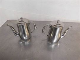 2 Stainless Steel Water Pitchers