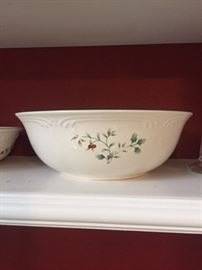 Holiday Serving Bowl - and others in same pattern