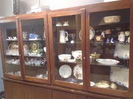 Cabinets full Historical porcelain