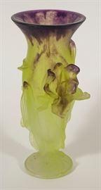 Daum Floral Iris Vase