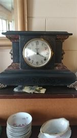 Antique mantle clocks with key
