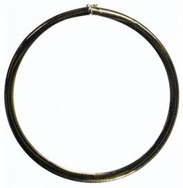 14k Gold Omega Link Necklace
