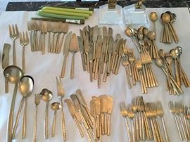 145 Piece Brass Dining Ware Set