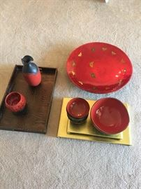 Asian Inspired Dishware and Trays