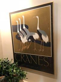 Many Cranes posters and original artwork